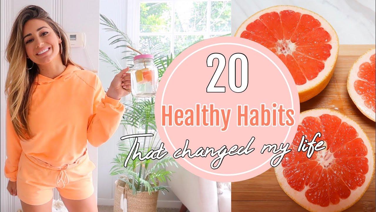 20 HEALTHY HABITS THAT CHANGED MY LIFE // Health food haul!