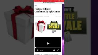 *NEW* GIFTING FEATURE COMING TO FORTNITE!