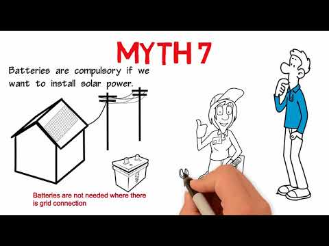 Myth 7 Batteries are compulsory if we want to install solar power.