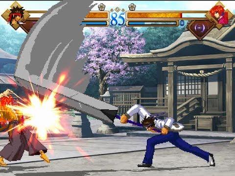 Rurouni Kenshin MUGEN Playthrough: Sagara Sanosuke - YouTube