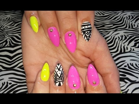 45 Spectacular Neon Nail Designs for 2019