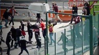 Hooligan Fight - Borussia Dortmund vs. Bayern München 25.05.2013 Champions League Finale
