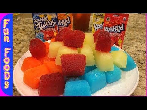 How to Make Glowing Kool-Aid Ice Cubes | Glow in the Dark Ice Cubes