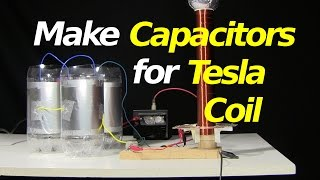 How to make capacitors for a Tesla coil, a mini/small spark gap Tes...
