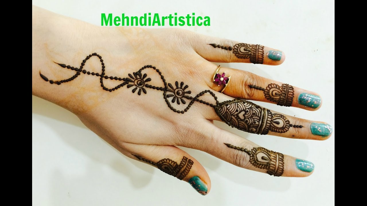 Beautiful Stylish Finger Mehendi Designs Easy Simple Mehndi Step By