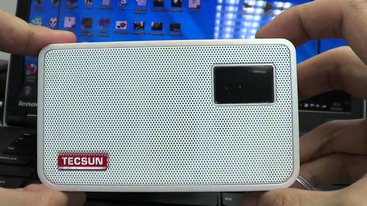 Tecsun ICR100 MP3 無損音樂播放器 FM收音機 錄音機 - YouTube