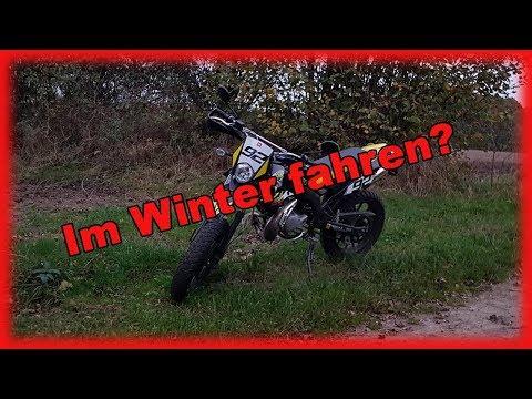 Im Winter fahren? Derbi Senda X-Treme SM 50 ccm!