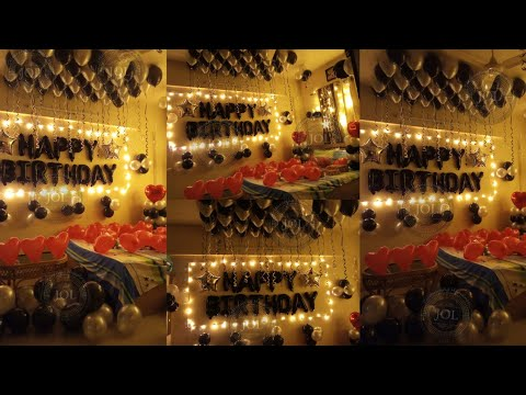 Birthday Surprise For Boyfriend Surprise Birthday Room Decoration Ideas At Home Using Balloons Youtube