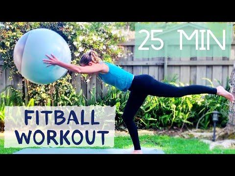 STABILITY BALL WORKOUT for Beginner & Intermediate ��⚪��
