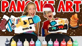 PANCAKE ART CHALLENGE!!! Guess what we want for Christmas!