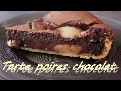 Tarte au poire et chocolat facile