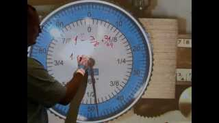 Read a fractional/decimal dial caliper (INCH-based)