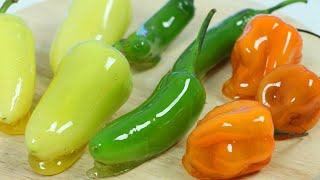 How to Make DIY Candied Spicy Chili Pepper Tanghulu Recipe Satisfying &amp Relaxing ASMR Video!