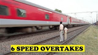 Highest Number Of Overtakes -  1 Train At Same Station
