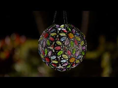 Plow & Hearth Solar Crystal Globe with Stand & Hanging Chain on QVC