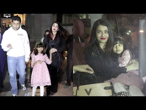 Aishwarya Rai's Daughter Aaradhya Finally Looks Exactly Like Her At Abhishek Bachchan's Birthday