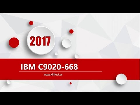 IBM-Certified-Specialist C9020-668 certification question dump