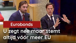 Baudet vs. Rutte over Eurobonds: Bent u naïef of kwaadaardig?