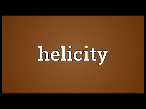Helicity Meaning