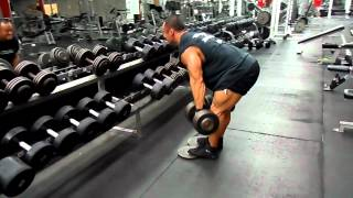 Carl Cheung 2012 CBBF National (3 weeks out, stiff legs for hams w/ dumbells)