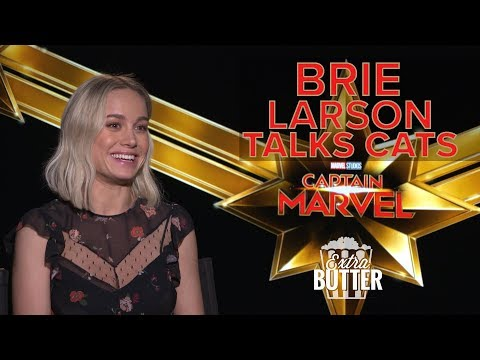 Brie Larson Talks Cats   'Captain Marvel' Interview   Extra Butter