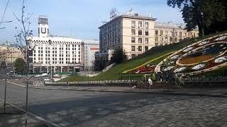 Цветочные часы на Крещатике.Киев.2018.