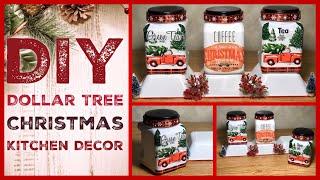 Dollar Tree DIY Christmas Red Truck Kitchen Decor - Farmhouse Coffee Bar Christmas Decor Ideas 2019