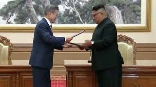 Kim and Moon wrap up official meetings of inter-Korean summit