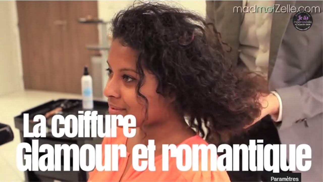 Cheveux bouclés  coiffure glamour et romantique !
