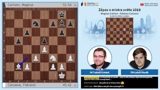 FIDE 2018 World Chess Championship - přímý přenos 3. partie, komentují Tadeáš Kriebel a Lukáš Vlasák