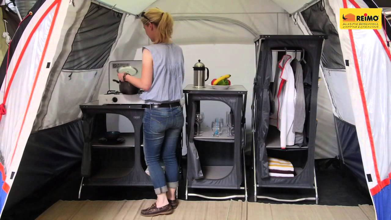 campingzubeh r campingschrank mehr ordnung in zelt und vorzelt youtube. Black Bedroom Furniture Sets. Home Design Ideas