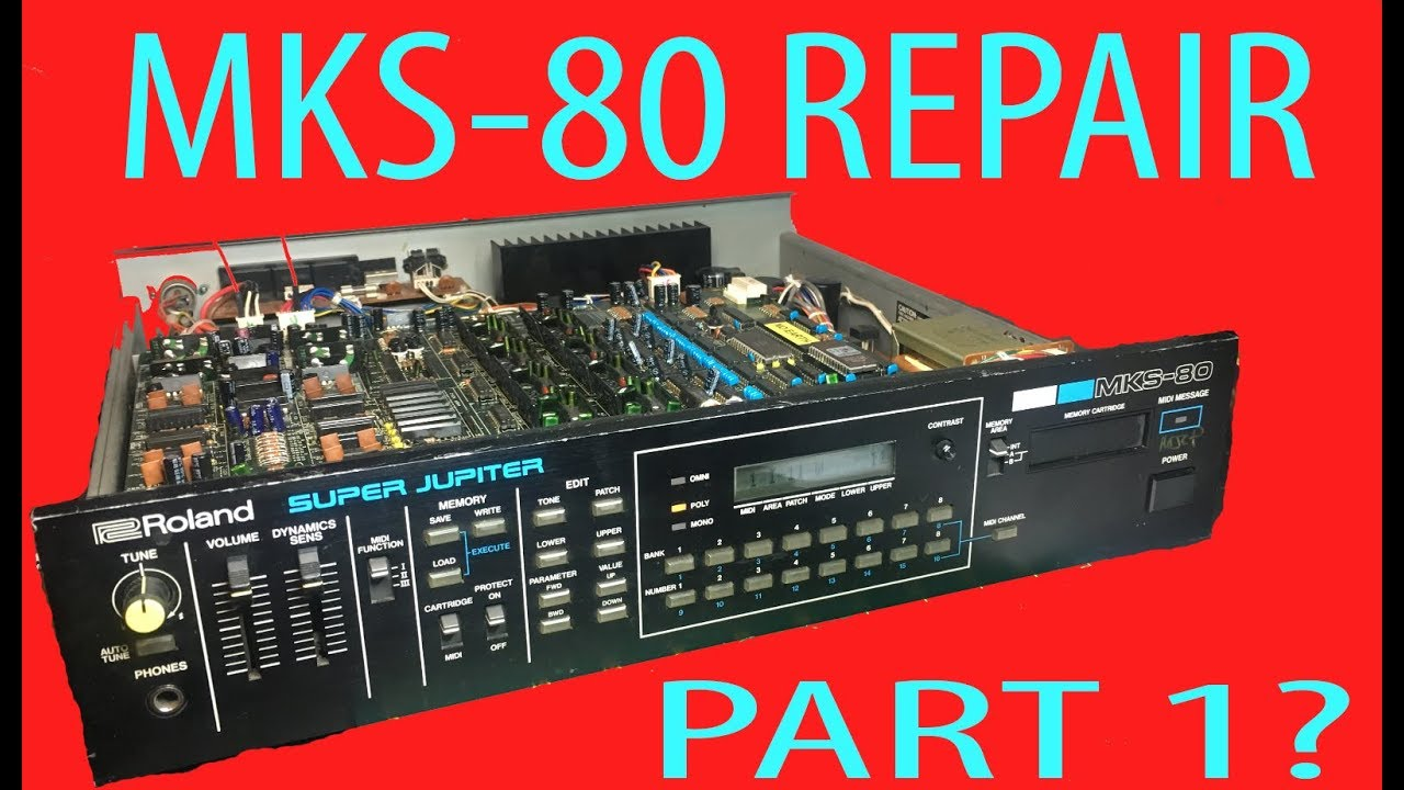 Roland MKS-80 Super Jupiter OLED Replacement Screen