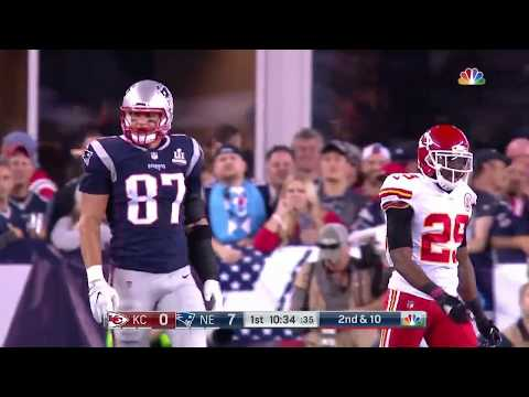 Rob Gronkowski vs Eric Berry (2017) | TE vs S Highlights
