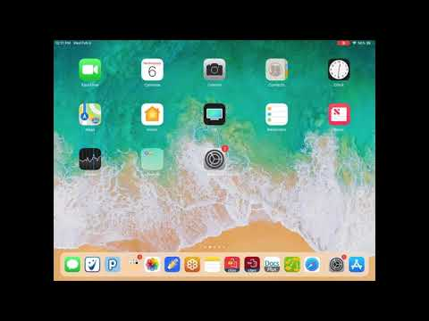 How to adjust the Speech Dictation settings on the iPad