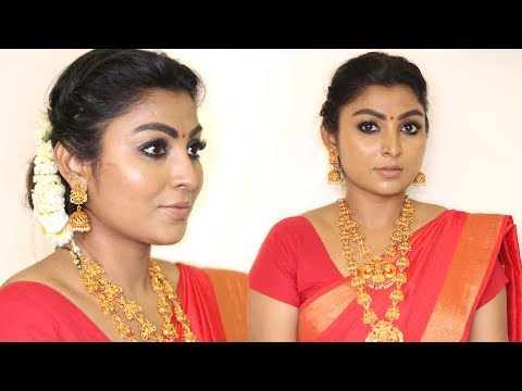 Nayanthara Inspired Makeup and Hairstyle Look in Tamil | Rose Tamil Beauty and Makeup