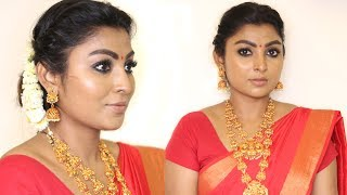 Nayanthara Inspired Makeup and Hairstyle Look in Tamil   Rose Tamil Beauty and Makeup
