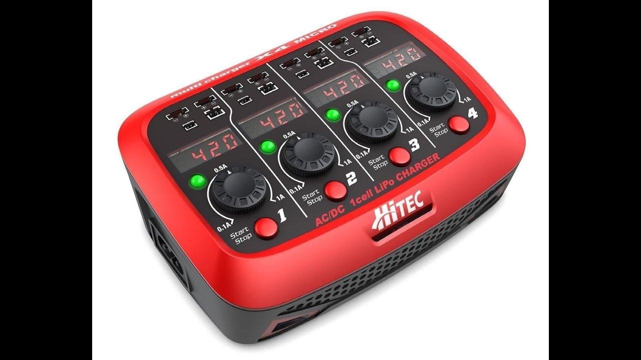 Hitec X4 Micro Ac Dc 1s Lipo Battery Charger Youtube