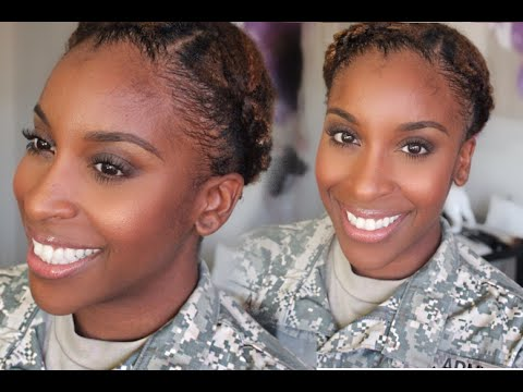 military hair and makeup tutorial