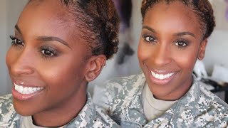 Military Hair and Makeup Tutorial