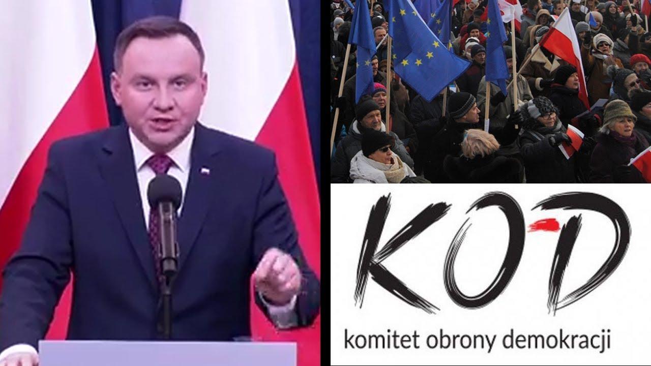 Kolejny koniec demokracji dla KOD-u! Prezydent ustawia do pionu Komisję Europejską i reformuje sądy!
