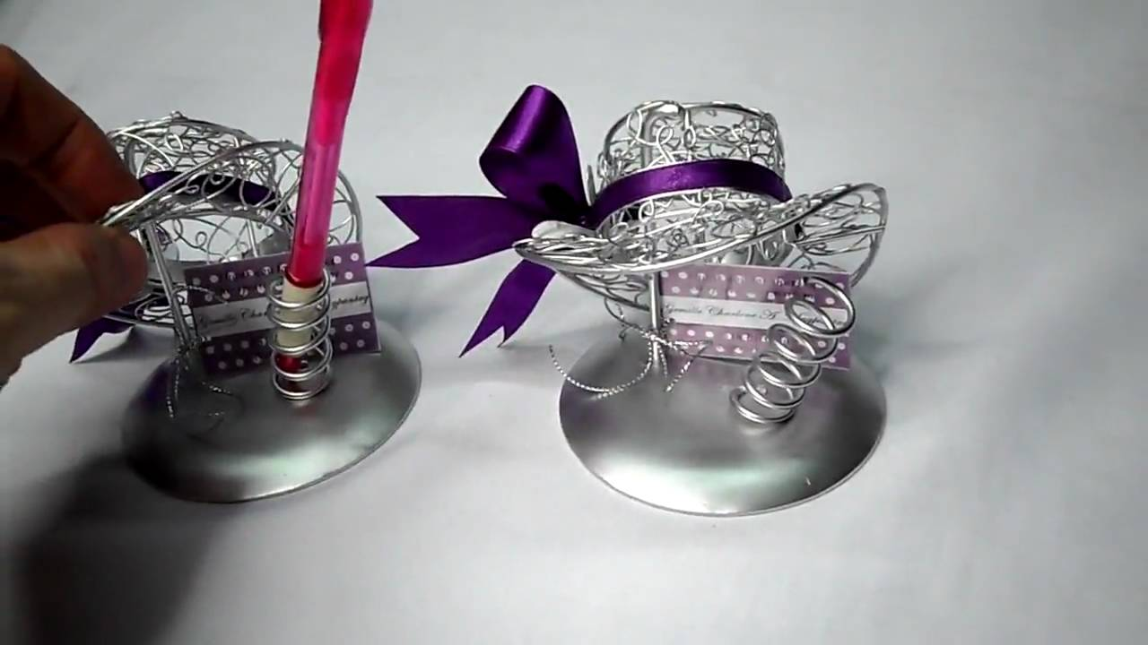 Metal Wire Crafted Lady S Hat Party Favors For Wedding