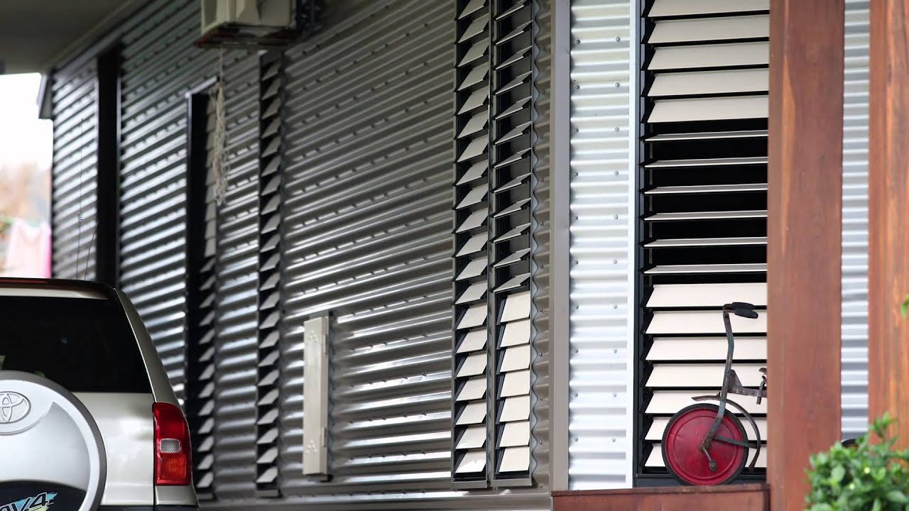 Asia - Louvres Windows In Cyclone Breezway Louvre