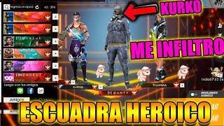 ME HAGO PASAR POR PRO y ME INFILTRO EN UNA ESCUADRA DE HEROICOS | MOMENTOS GRACIOSOS FREE FIRE