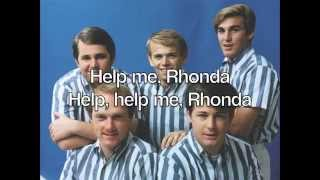Help Me, Rhonda [Single Version] - The Beach Boys (with lyrics)