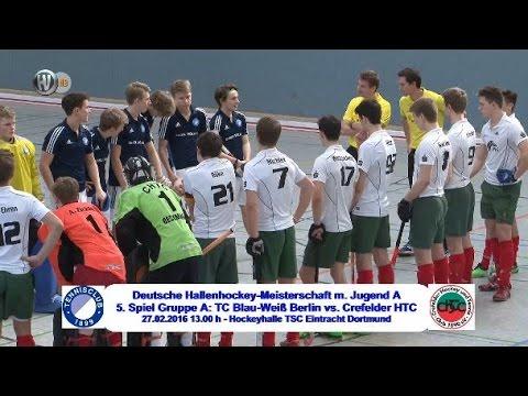 5. Spiel Gruppe A Deutsche Hallenhockey-Meisterschaft männliche Jugend A 2016 CHTC.TV
