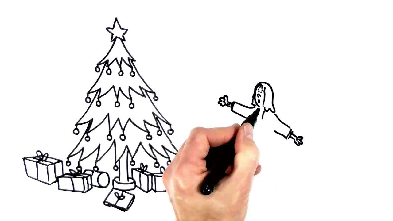 Christmas Day at Last! Speed Draw Cartoon - YouTube