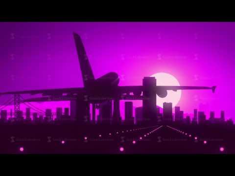 San Francisco Violet Purple USA America Skyline Sunrise Landing