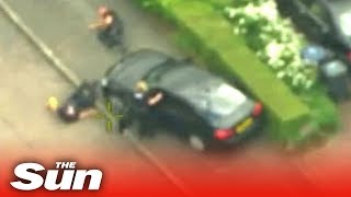 UK cop run over by tasered thug driving a police car