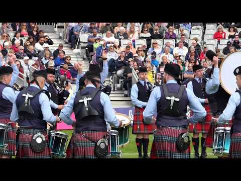 World Pipe band Championships 2017 - Field Marshal Montgomery Medley - [4K/UHD]