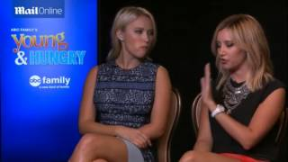 Ashley Tisdale and Emily Osment INTERVIEW of Young & Hungry